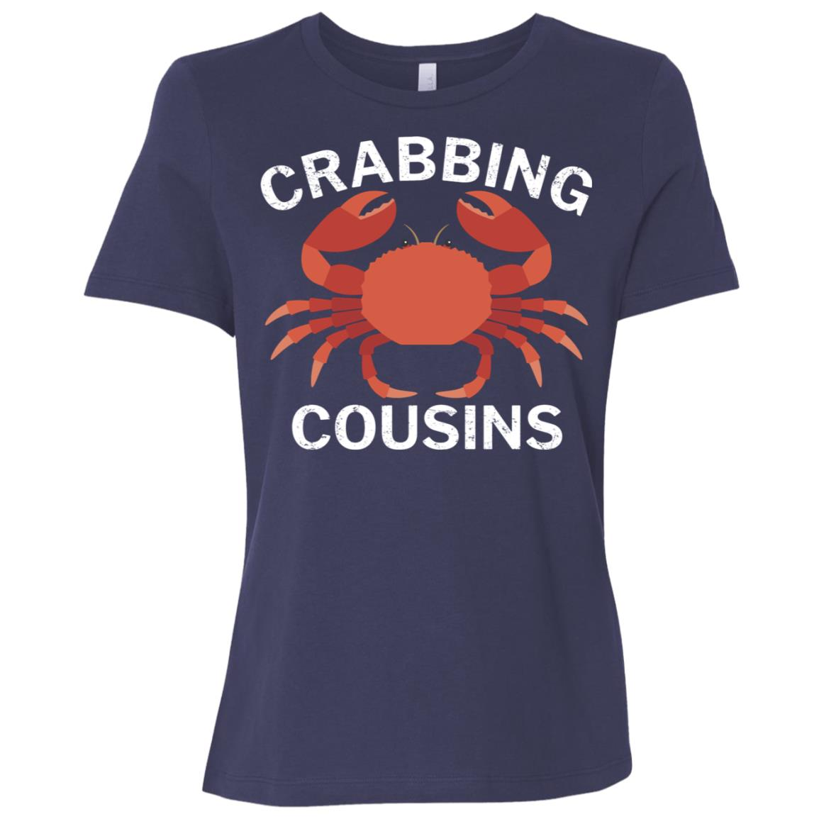 Crabbing Cousins Funny Fishing Women Short Sleeve T-Shirt