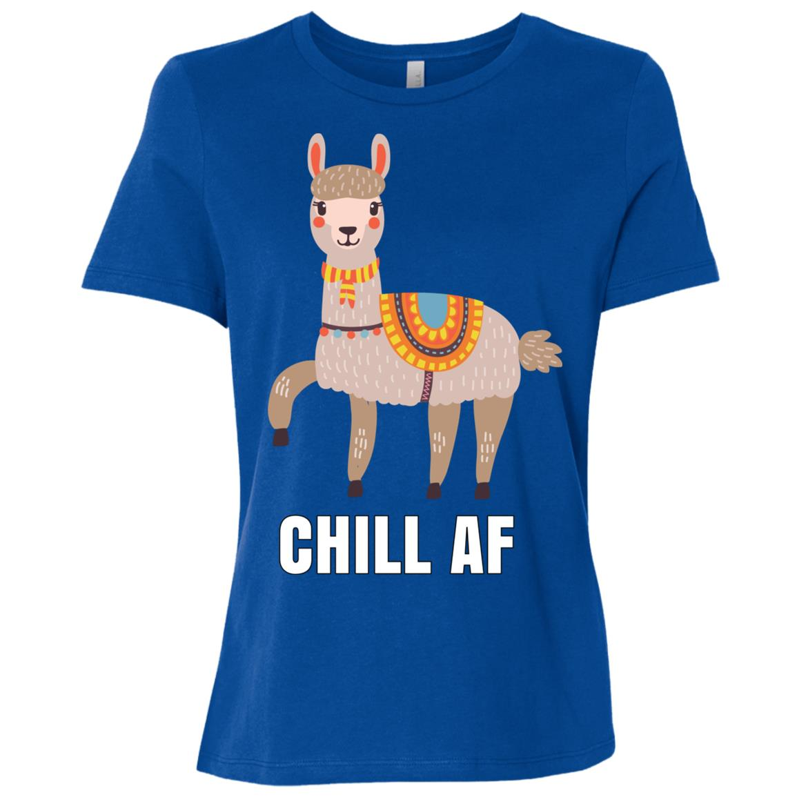 Chill Af Peruvian Llama Women Short Sleeve T-Shirt