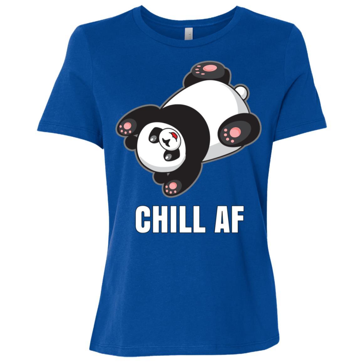 Chill Af Panda Bear Women Short Sleeve T-Shirt