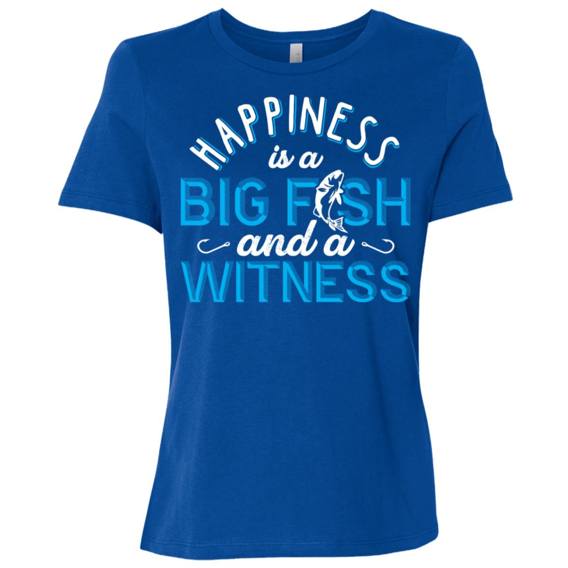 Big Fish And A Witness Funny Women Short Sleeve T-Shirt