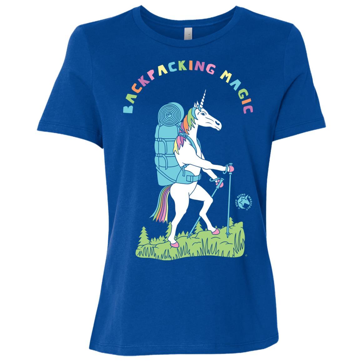 Backpacking Magic Unicorn Women Short Sleeve T-Shirt