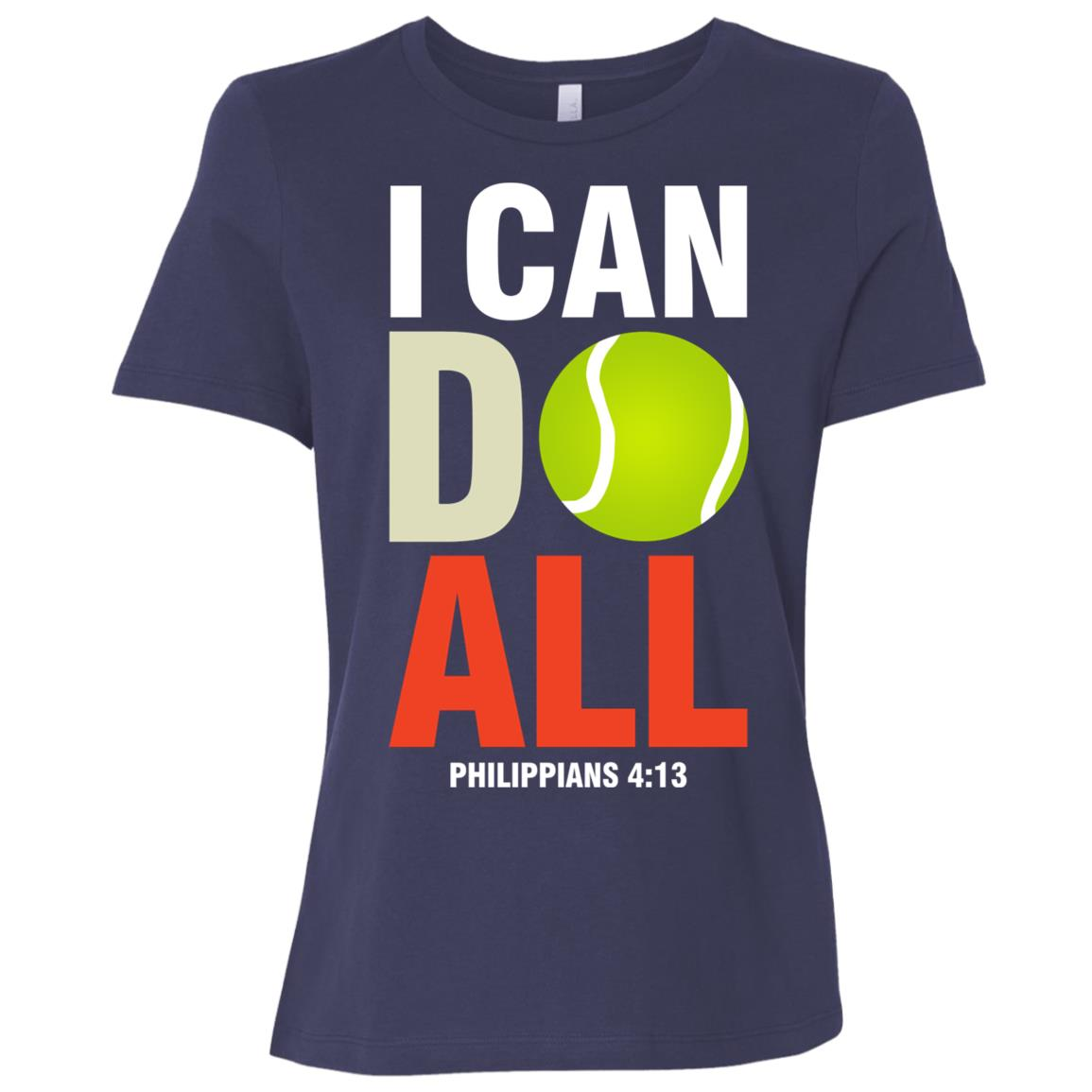 Tennis I Can Do All, Christian Women Short Sleeve T-Shirt
