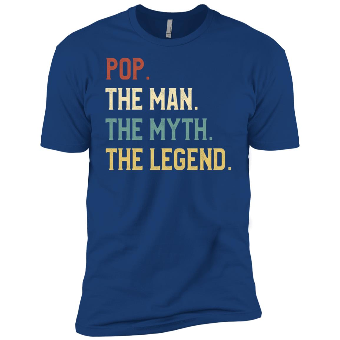 Fathers Day The Man Myth Legend Pop Papa Gift Men Short Sleeve T-Shirt
