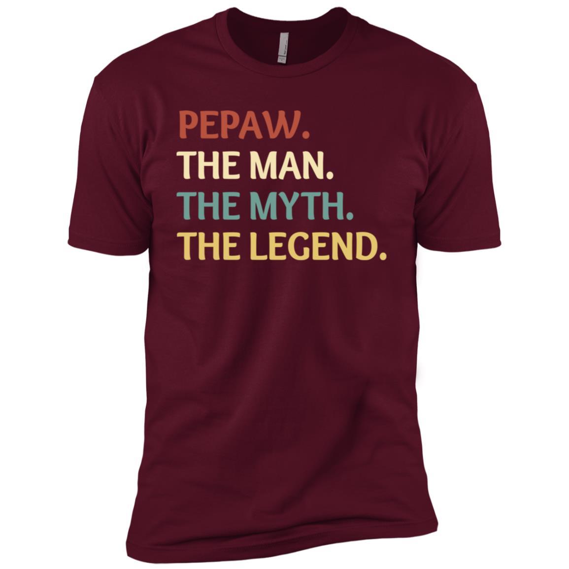 Fathers Day The Man Myth Legend Pepaw Papa Gift-1 Men Short Sleeve T-Shirt
