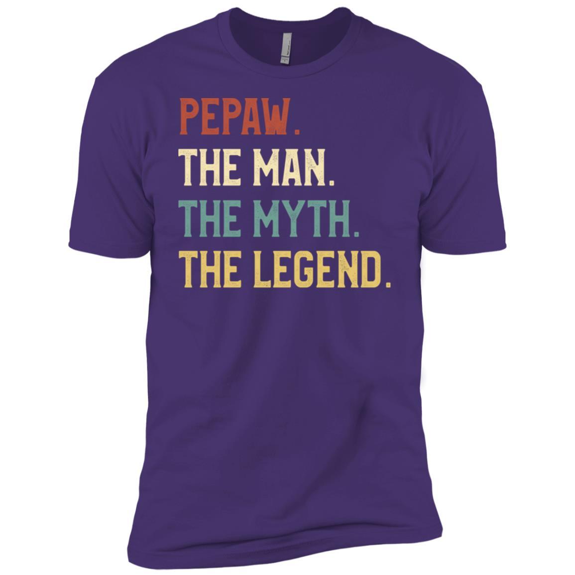 Fathers Day The Man Myth Legend Pepaw Papa Gift Men Short Sleeve T-Shirt