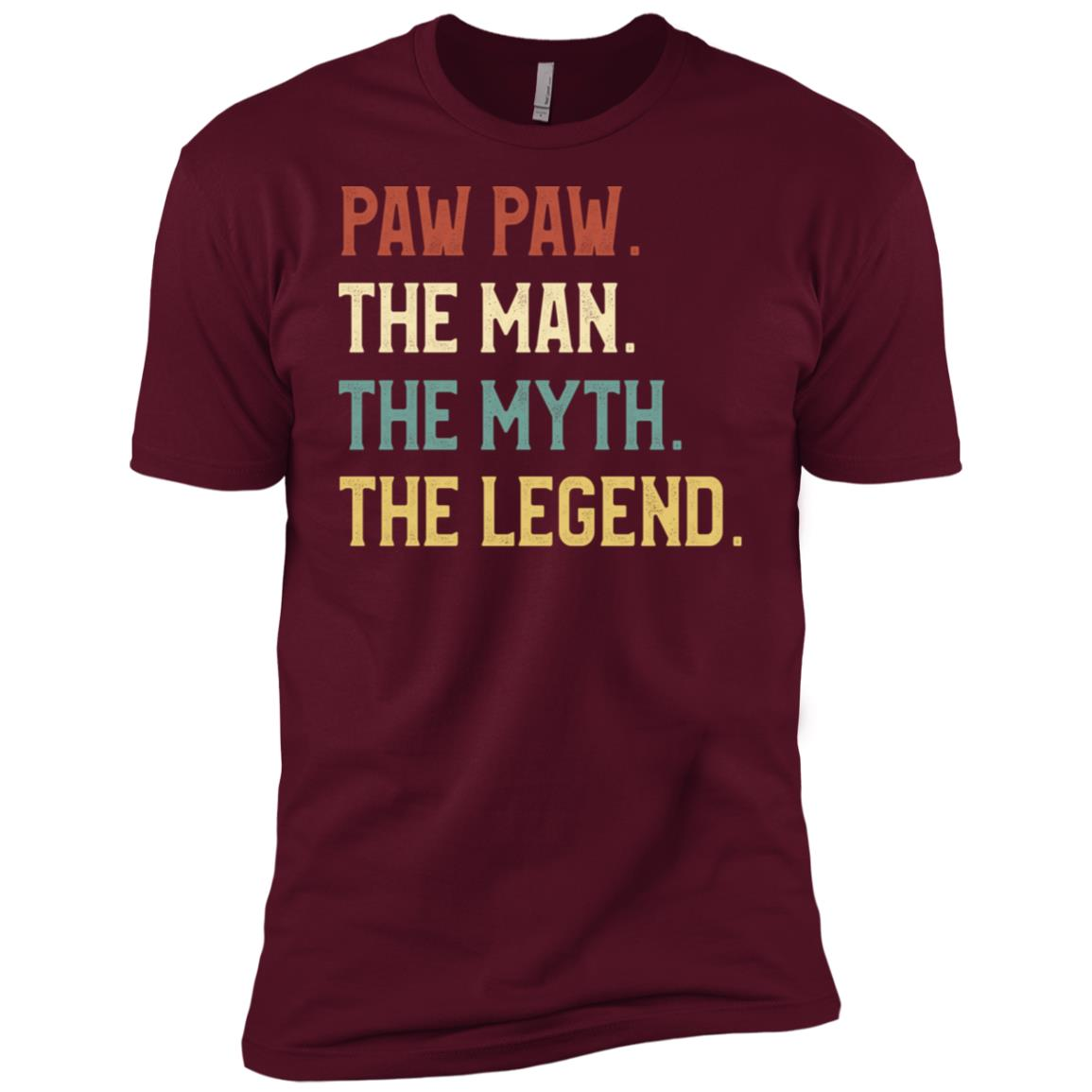Fathers Day The Man Myth Legend Paw Paw Papa Gift Men Short Sleeve T-Shirt
