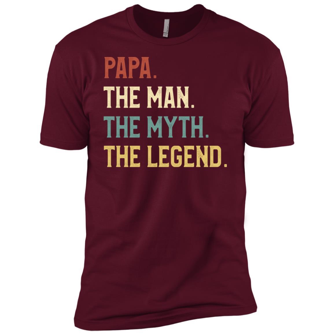 Fathers Day The Man Myth Legend Papa Papa Gift Men Short Sleeve T-Shirt