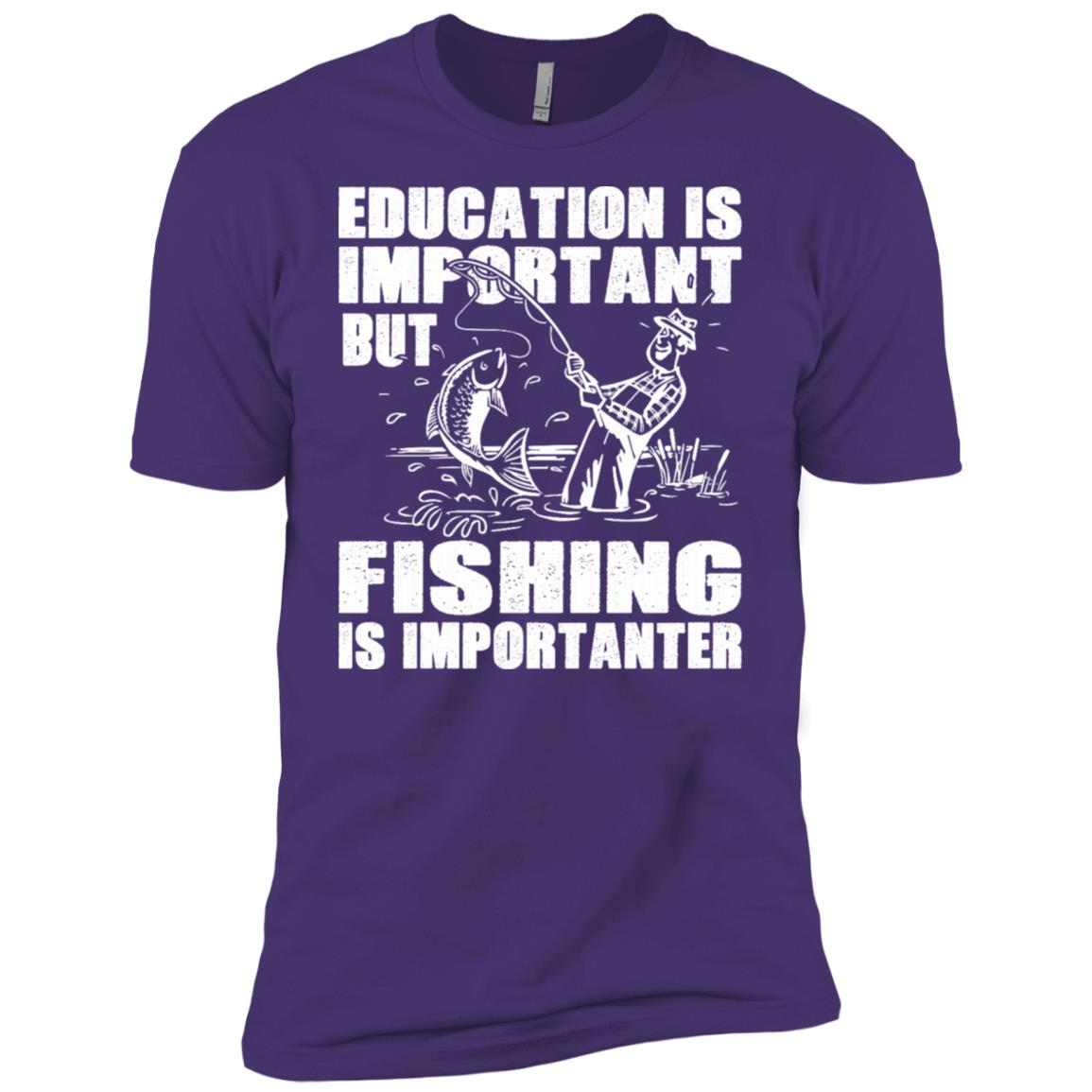 Education Is Important But Fishing Is Importanter Men Short Sleeve T-Shirt