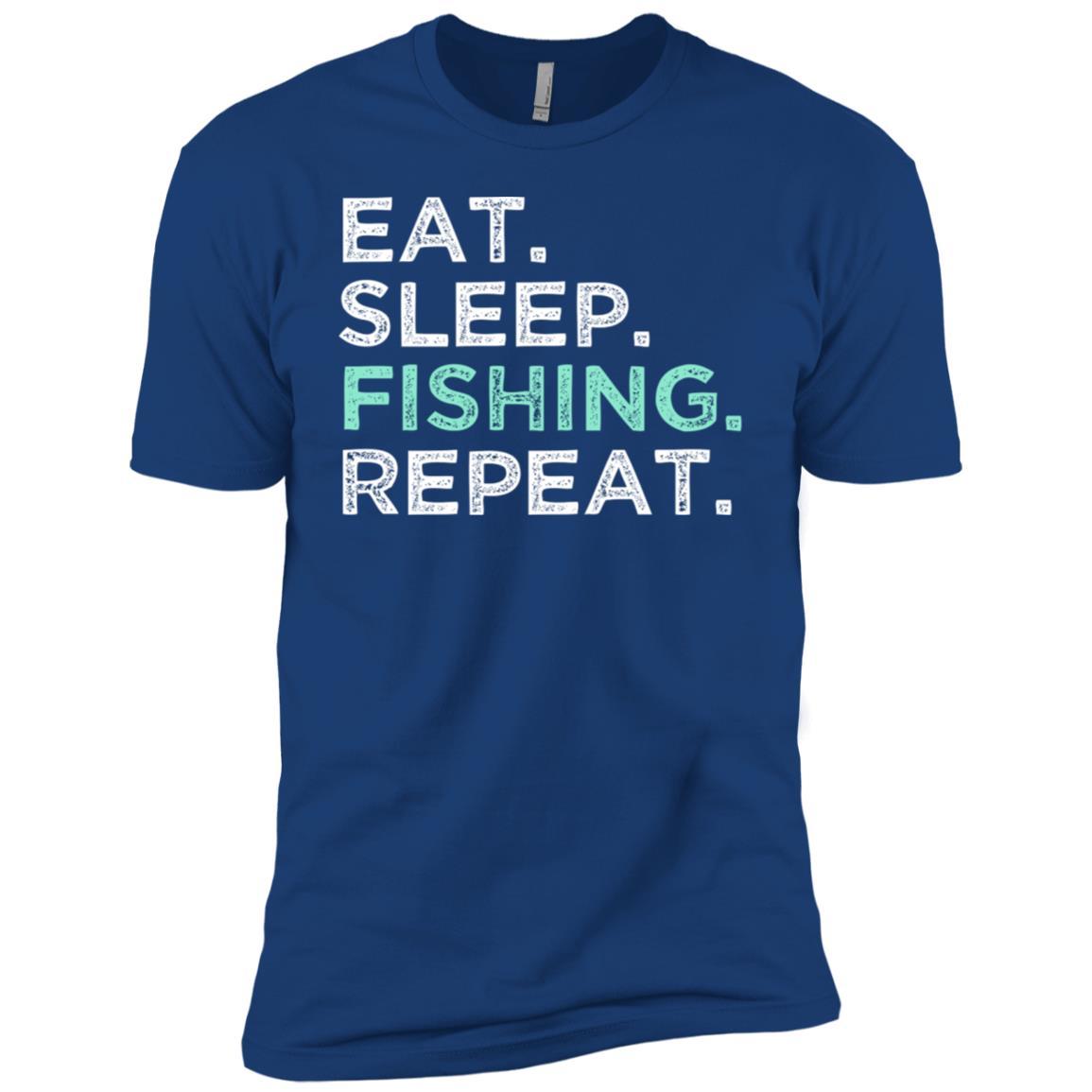 Eat Sleep Fishing Repeat. Fishing Men Short Sleeve T-Shirt