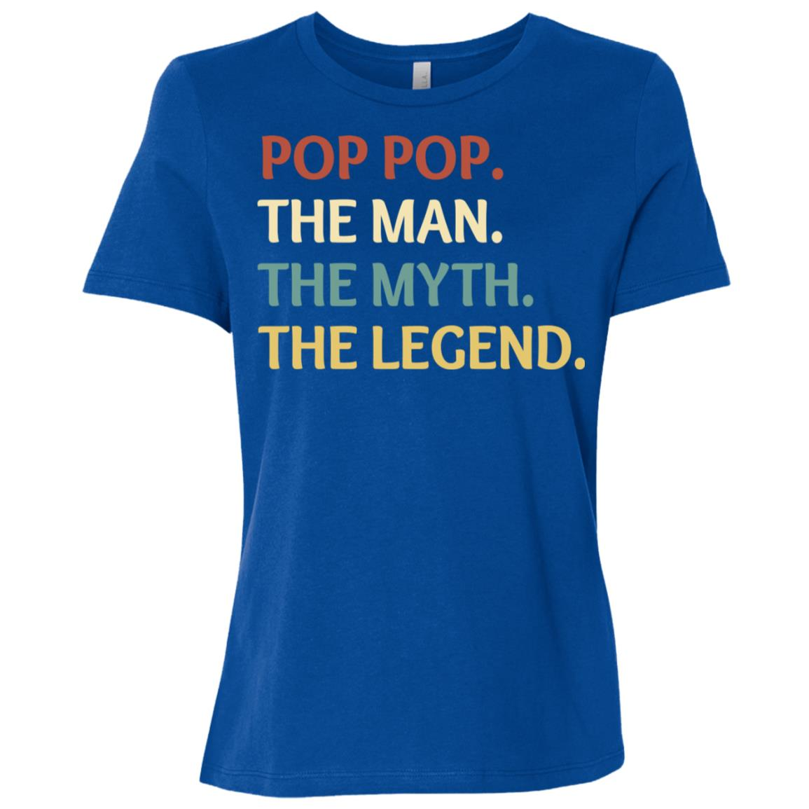 Fathers Day The Man Myth Legend Pop Pop Papa Gift-2 Women Short Sleeve T-Shirt