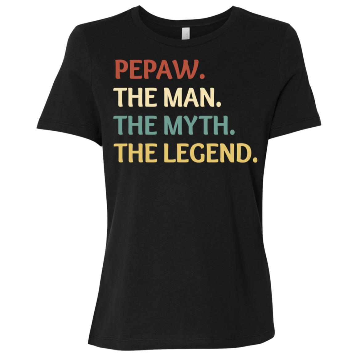Fathers Day The Man Myth Legend Pepaw Papa Gift-1 Women Short Sleeve T-Shirt