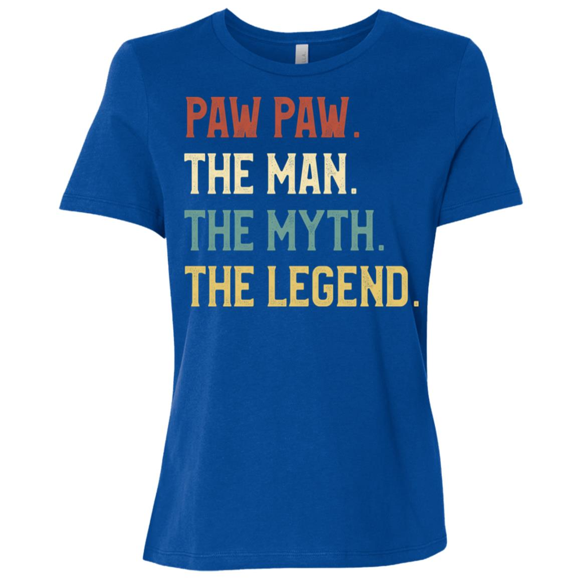 Fathers Day The Man Myth Legend Paw Paw Papa Gift Women Short Sleeve T-Shirt