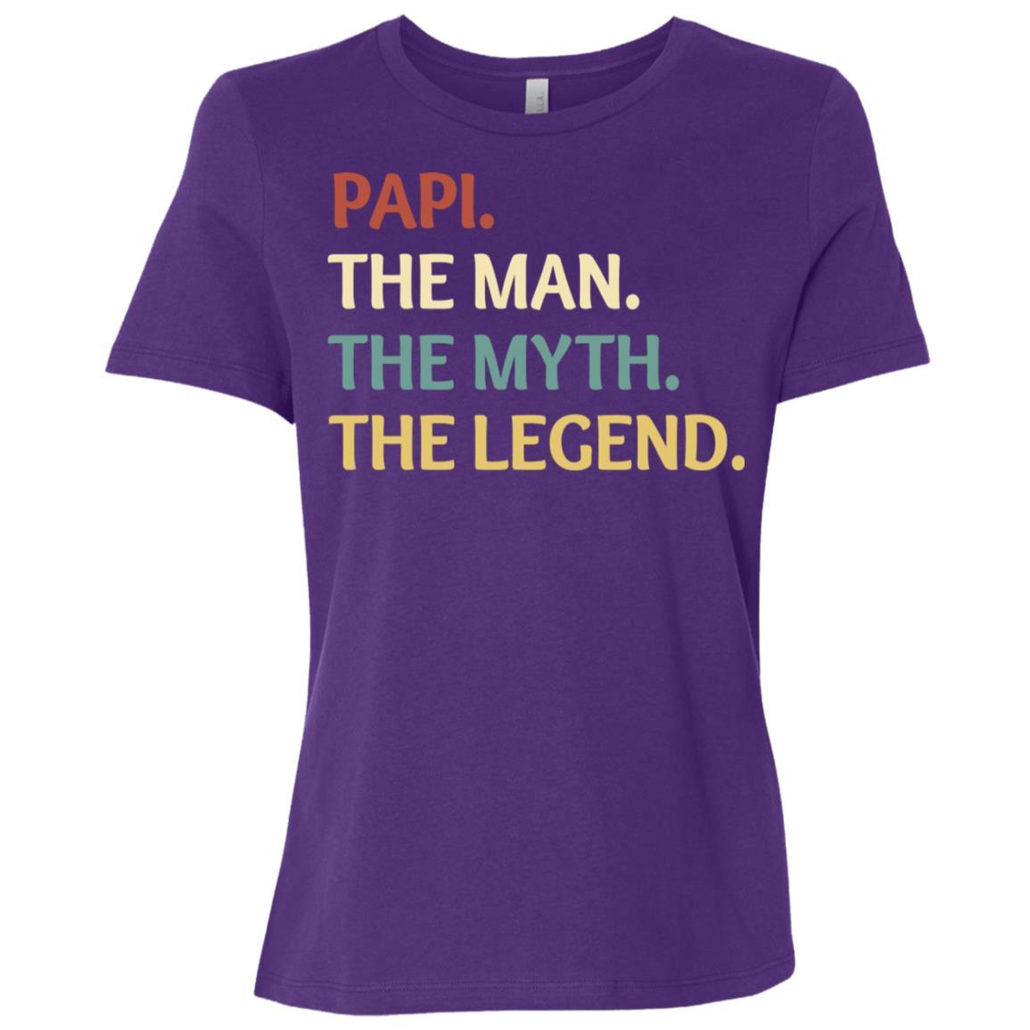 Fathers Day The Man Myth Legend Papi Papa Gift-2 Women Short Sleeve T-Shirt