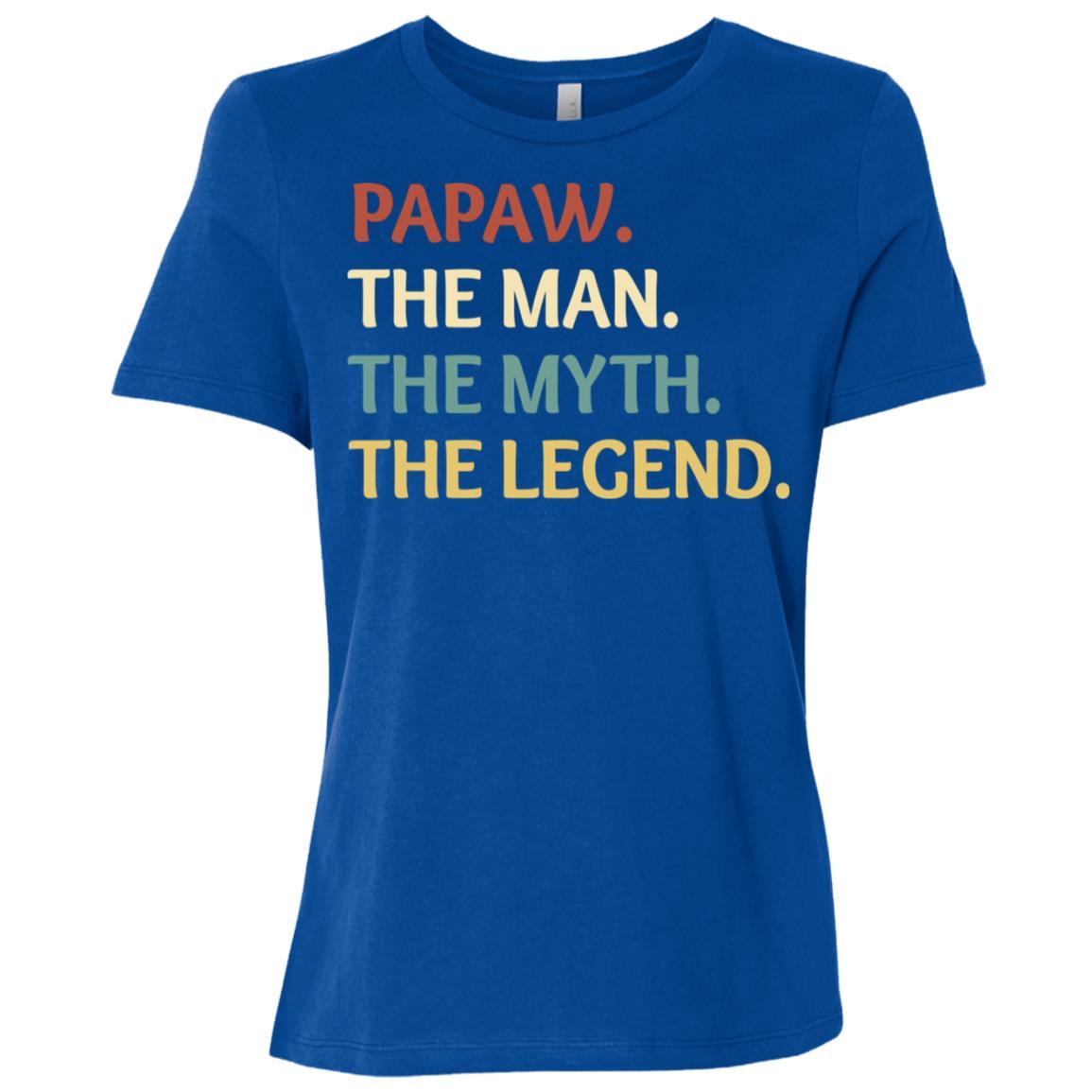 Fathers Day The Man Myth Legend Papaw Papa Gift-2 Women Short Sleeve T-Shirt