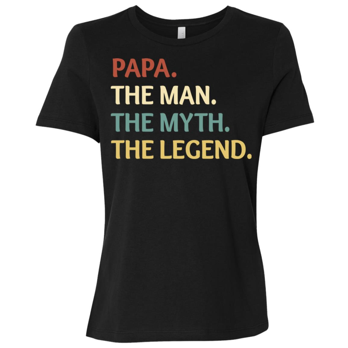 Fathers Day The Man Myth Legend Papa Papa Gift-2 Women Short Sleeve T-Shirt