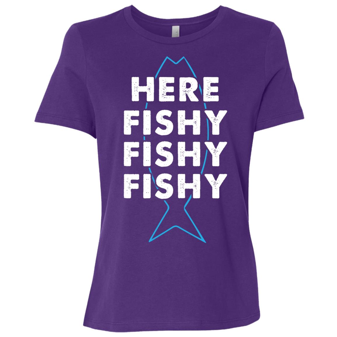 Fishing Funny Here Fishy Fishy Fishy Women Short Sleeve T-Shirt