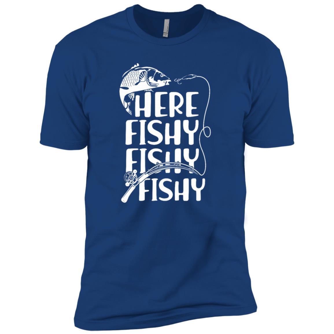 Funny Fishing Here Fishy Fishy Fisherman-1 Men Short Sleeve T-Shirt