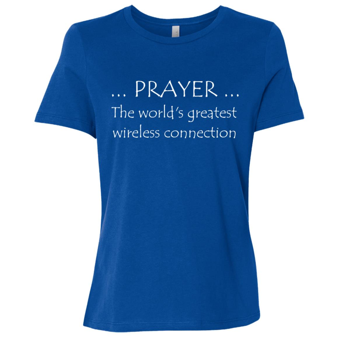 Prayer Greatest Wireless Connection Funny Gift Women Short Sleeve T-Shirt