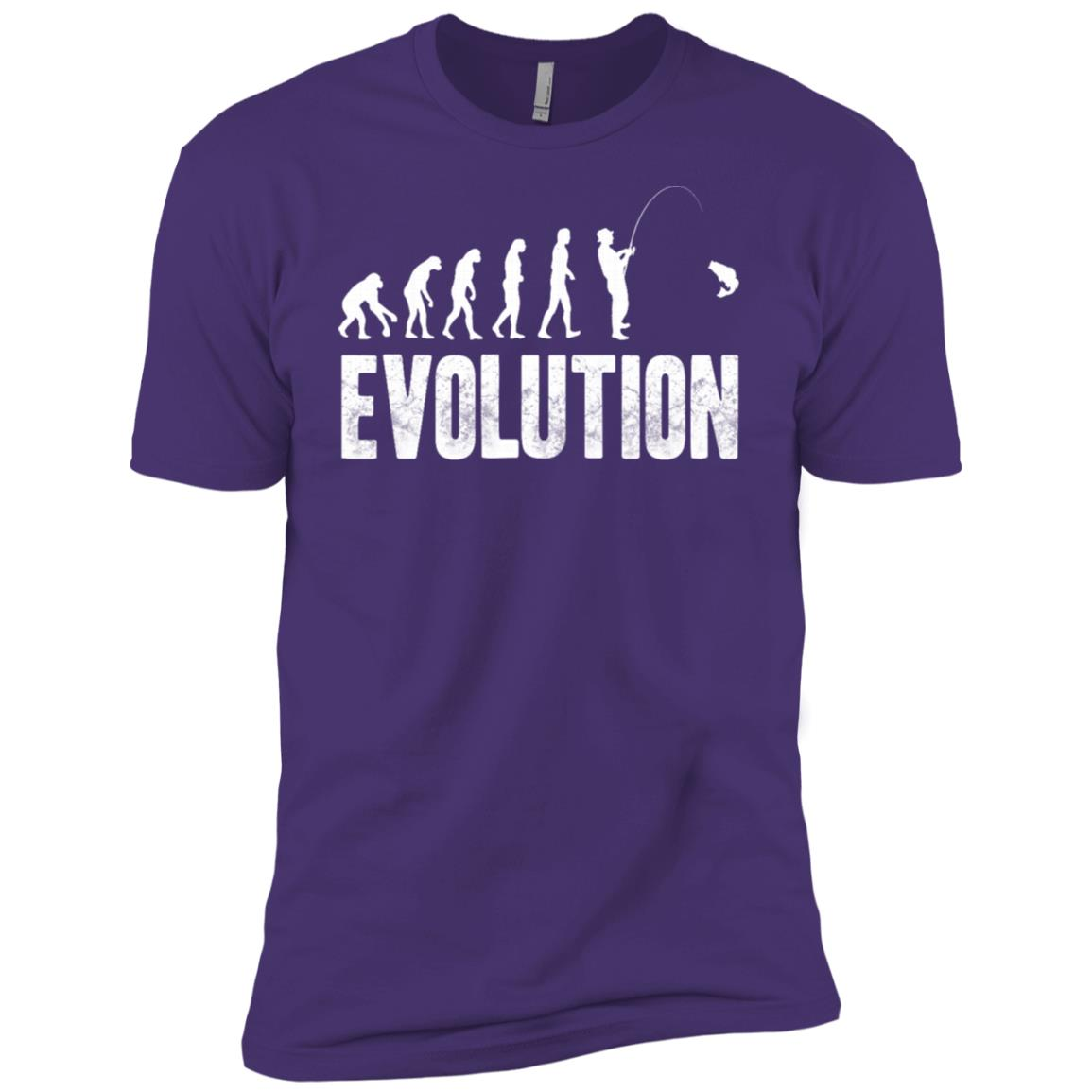 Funny Fishing for men or women – Evolution of Man Men Short Sleeve T-Shirt