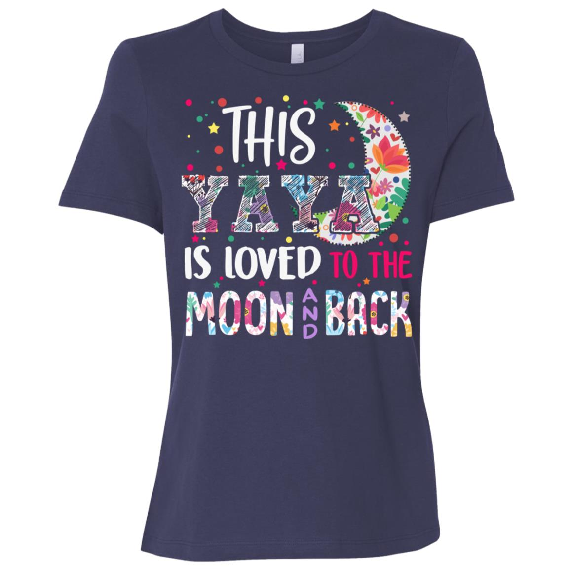 This Yaya is loved to the moon and back Women Short Sleeve T-Shirt