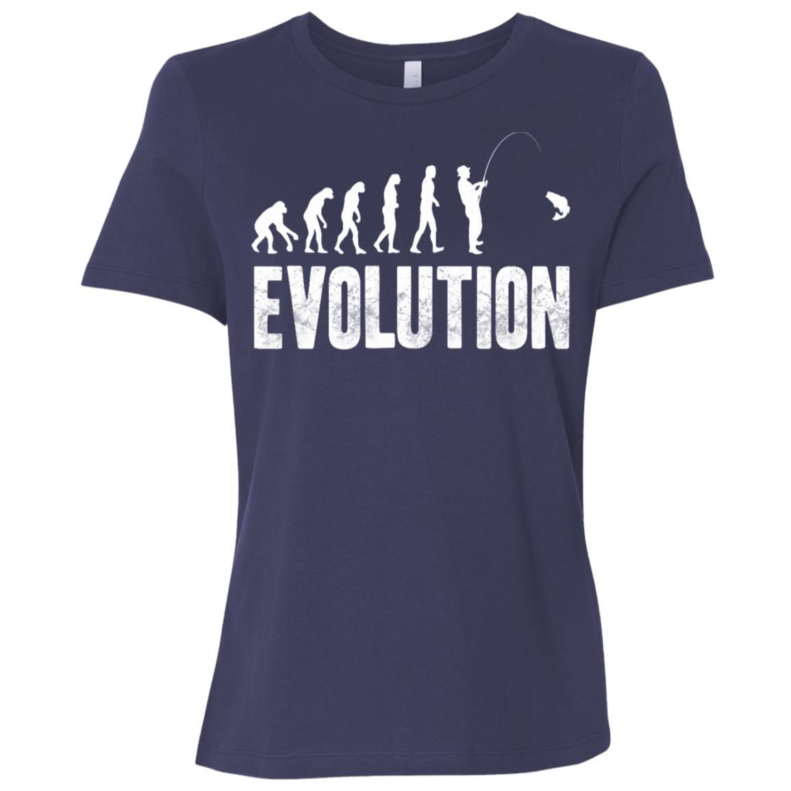 Funny Fishing for men or women – Evolution of Man Women Short Sleeve T-Shirt