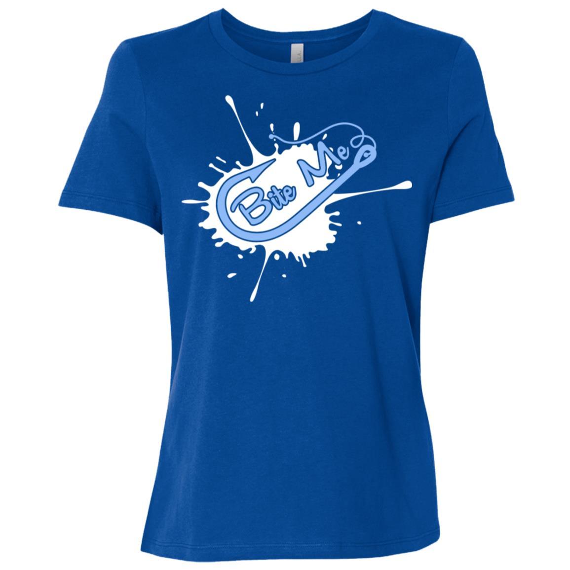 Fly Bass Fishing Camping Wildlife Hunting Funny -3 Women Short Sleeve T-Shirt