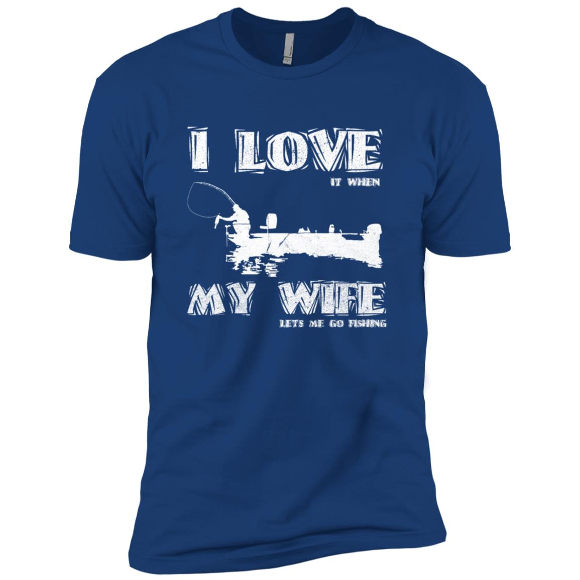 I Love It When My Wife Lets Me Go Fishing Funny Men Short Sleeve T-Shirt