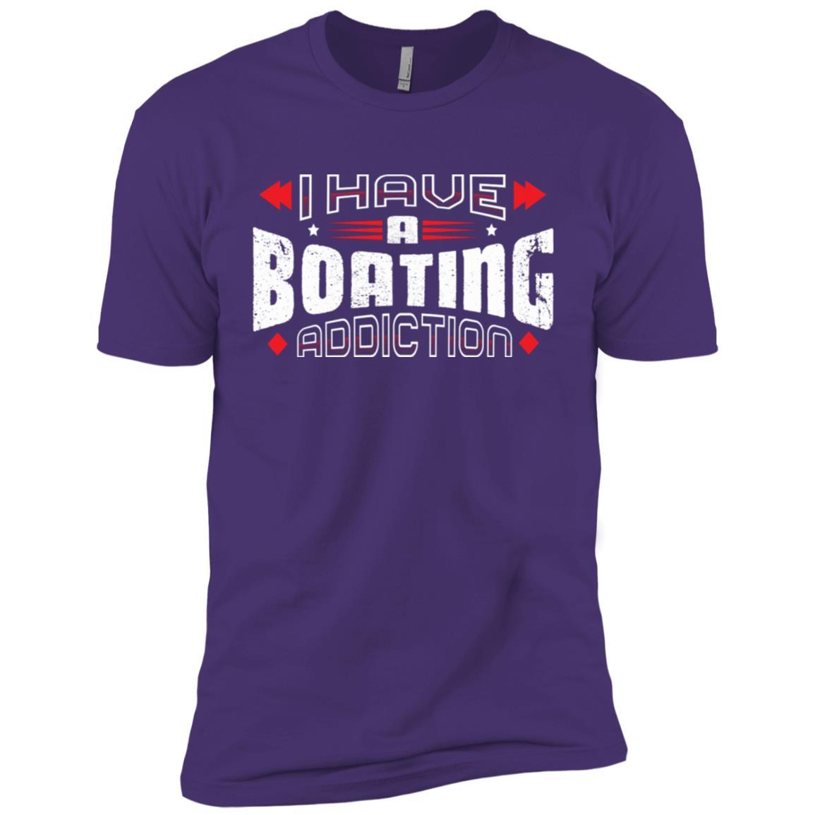 I Have A Boating Addiction Vintage Distressed Men Short Sleeve T-Shirt