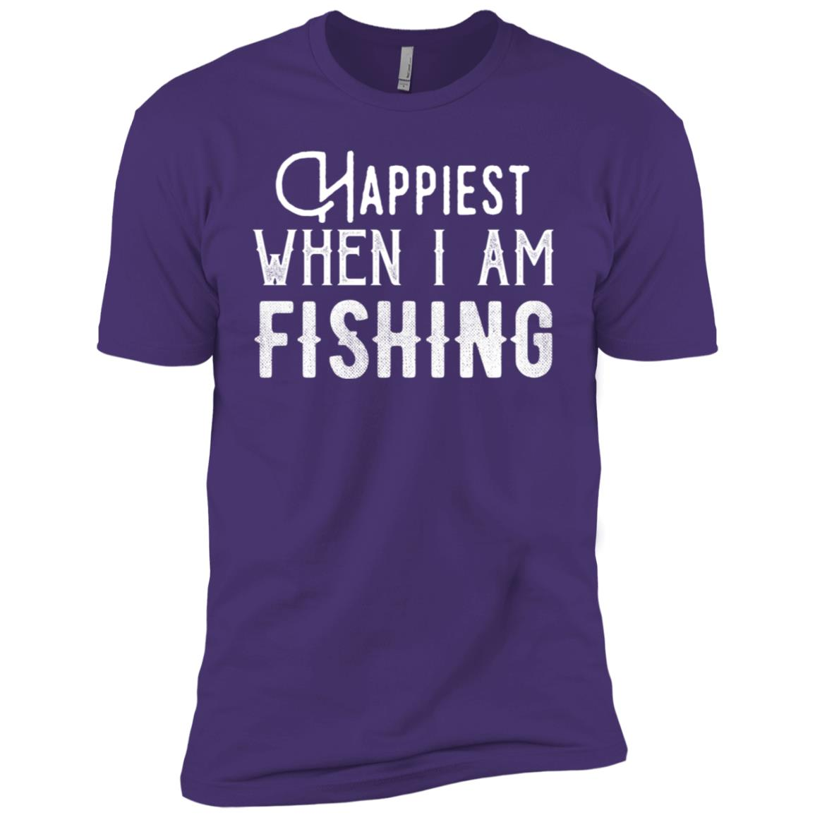 Happiest When I Am Fishing Gift Ideas Men Short Sleeve T-Shirt