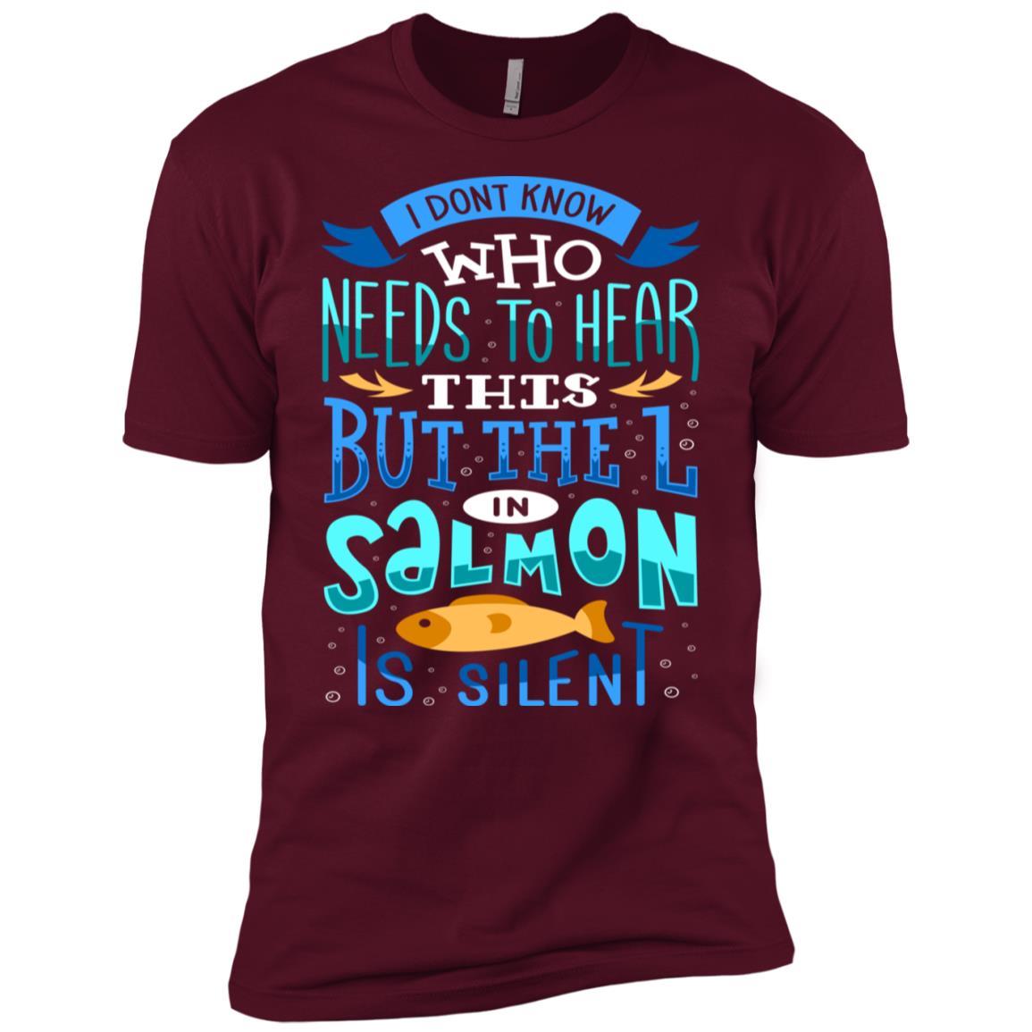 Funny Salmon Fishing Salmon Fisher Gift Men Short Sleeve T-Shirt