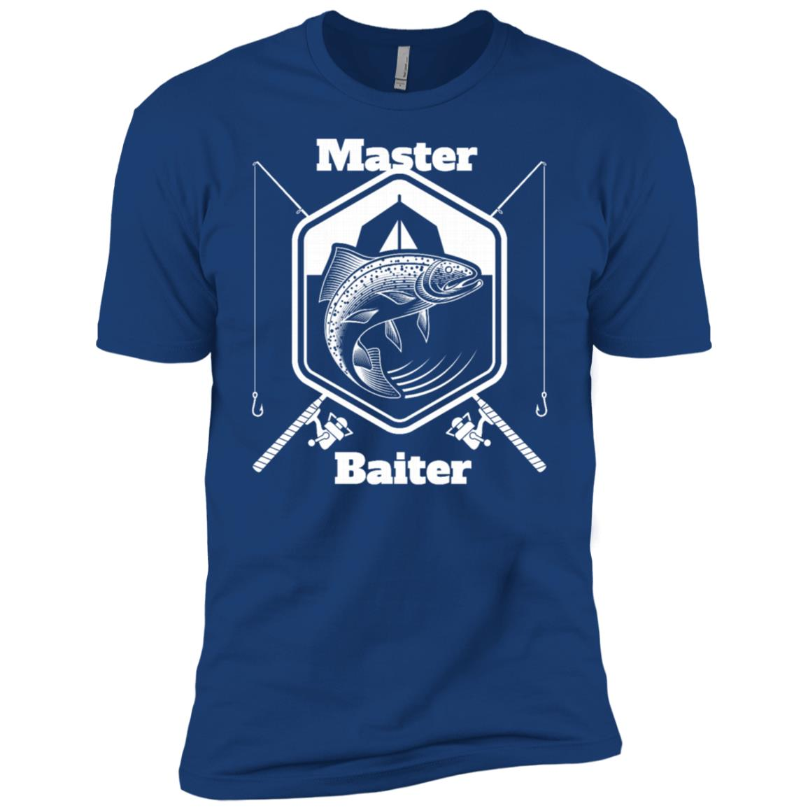 Funny Master Baiter Fishing Men Short Sleeve T-Shirt