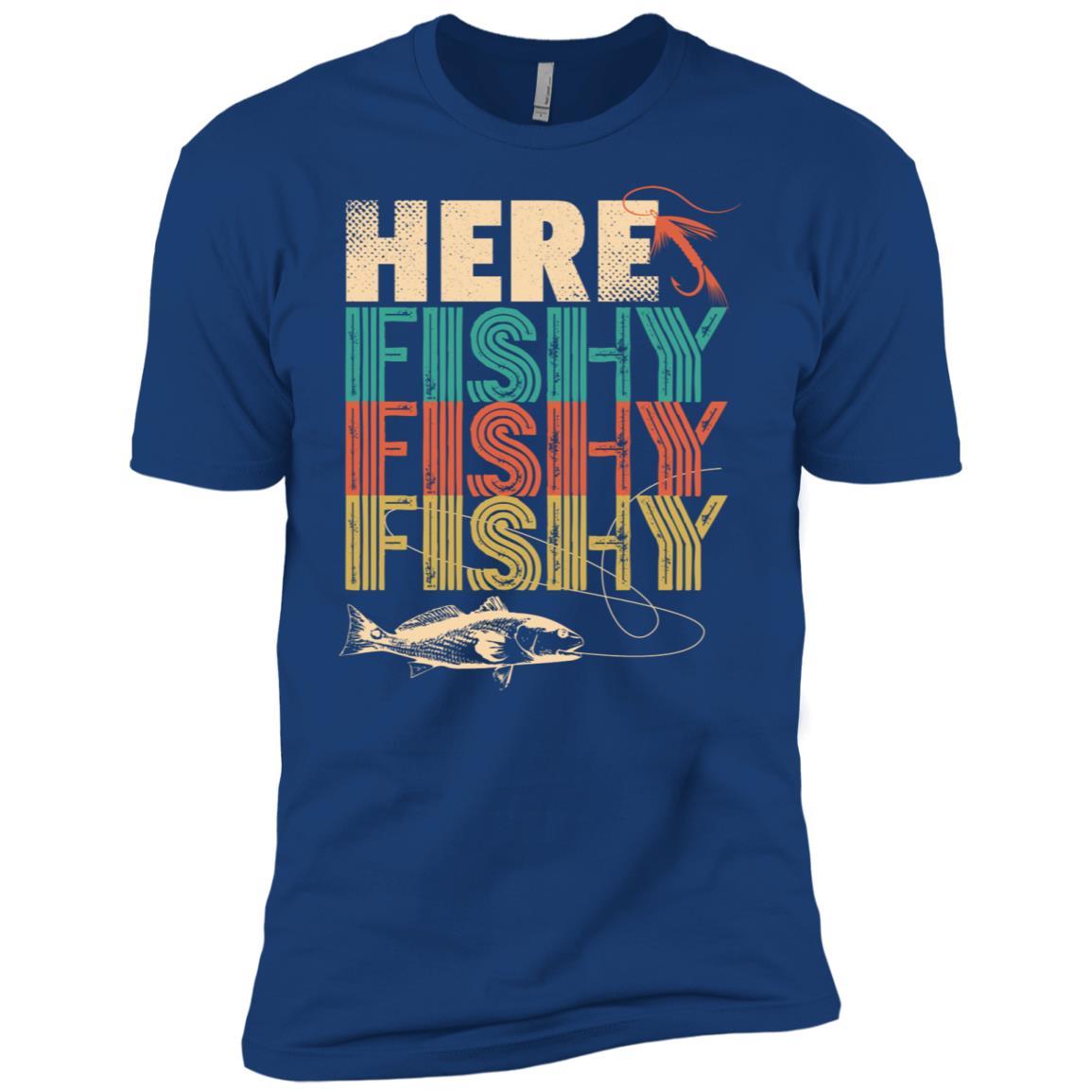Funny Here Fishy Fishy Fishy Fisherman -4 Men Short Sleeve T-Shirt