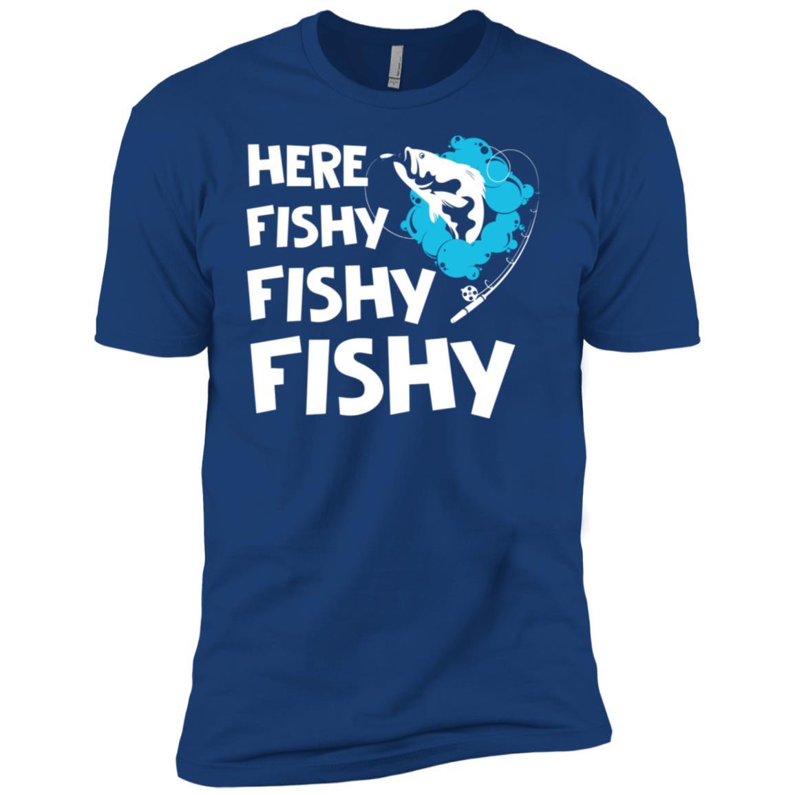 Funny Here Fishy Fishy Fishy Fisherman -3 Men Short Sleeve T-Shirt
