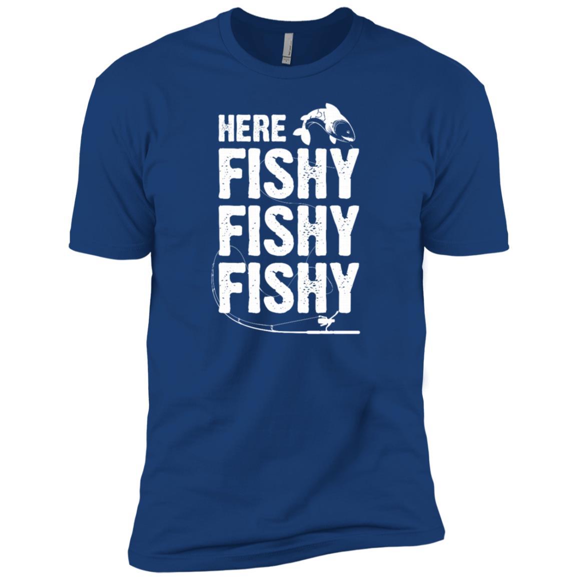 Funny Here Fishy Fishy Fishy Fisherman -2 Men Short Sleeve T-Shirt