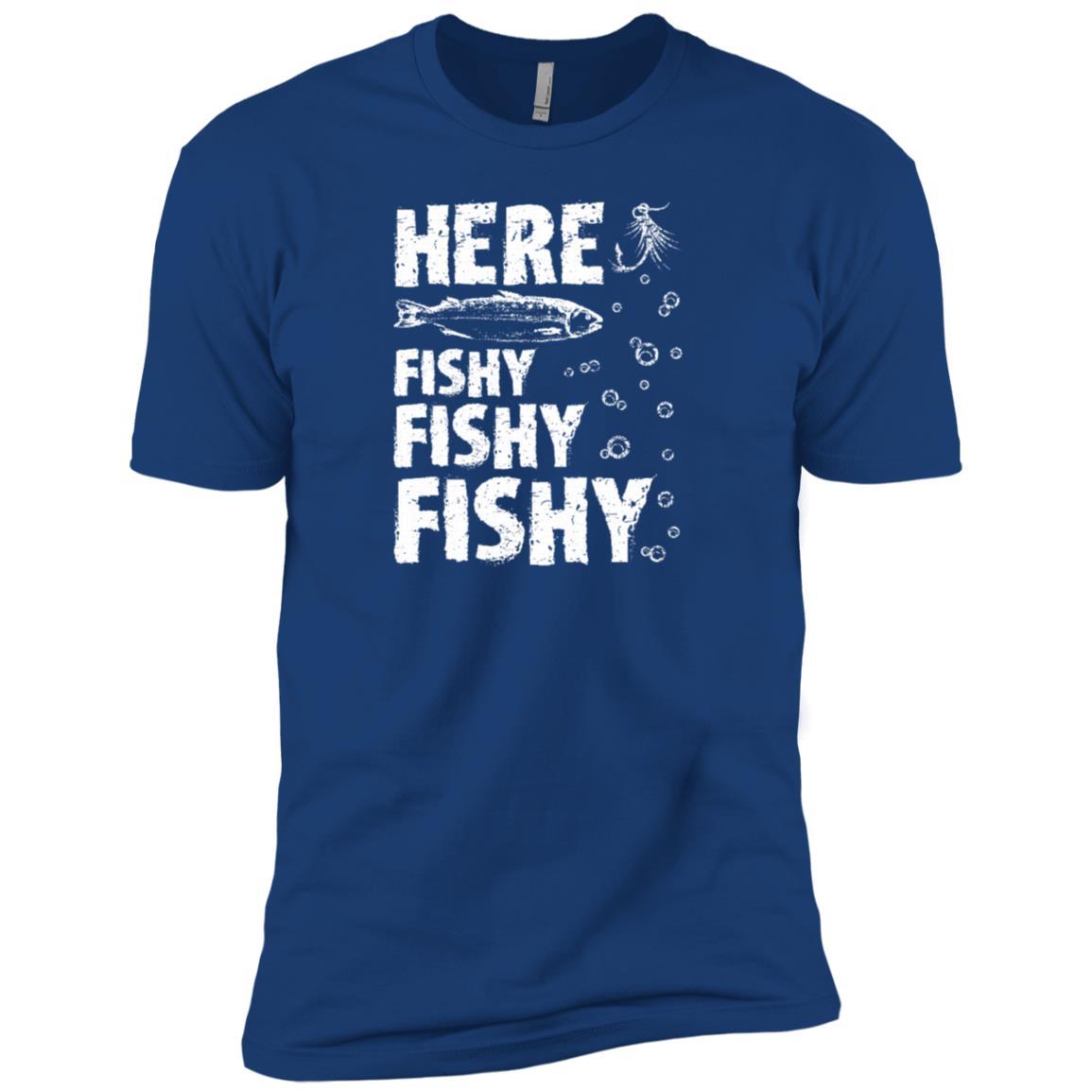 Funny Here Fishy Fishy Fishy Fisherman -1 Men Short Sleeve T-Shirt