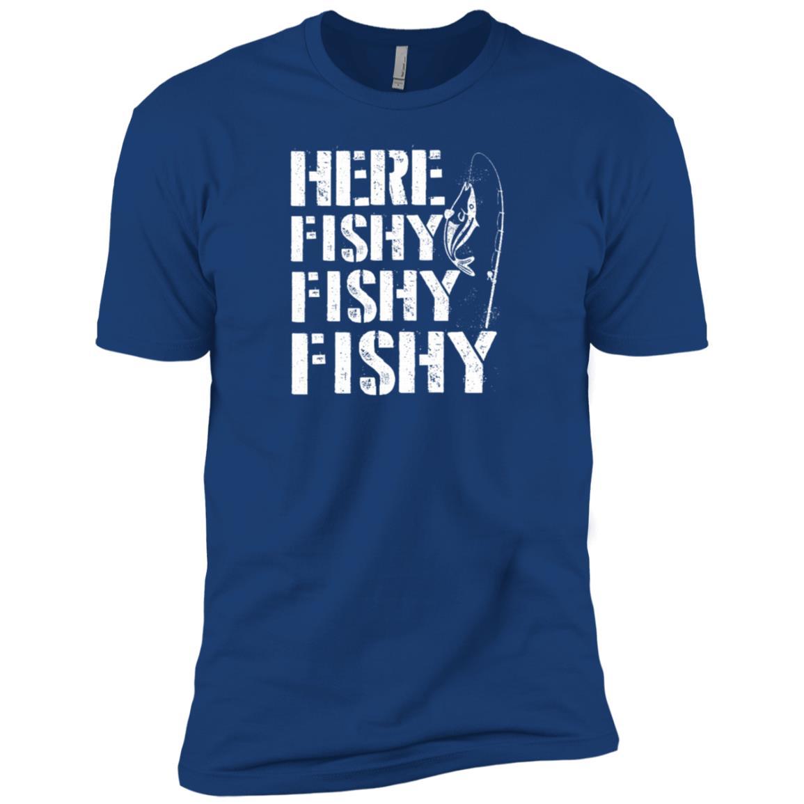Funny Here Fishy Fishy Fishy Fisherman Men Short Sleeve T-Shirt