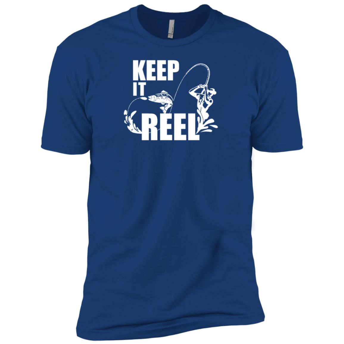 Fishing Keep It Reel – Funny Fishing Men Short Sleeve T-Shirt