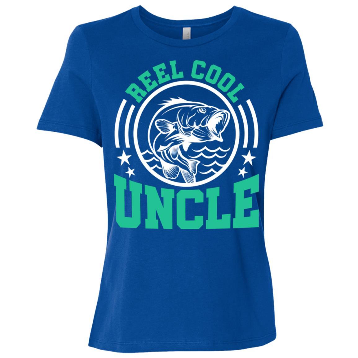 Funny Uncle Fishing Reel Cool Fishermen Gifts Women Short Sleeve T-Shirt