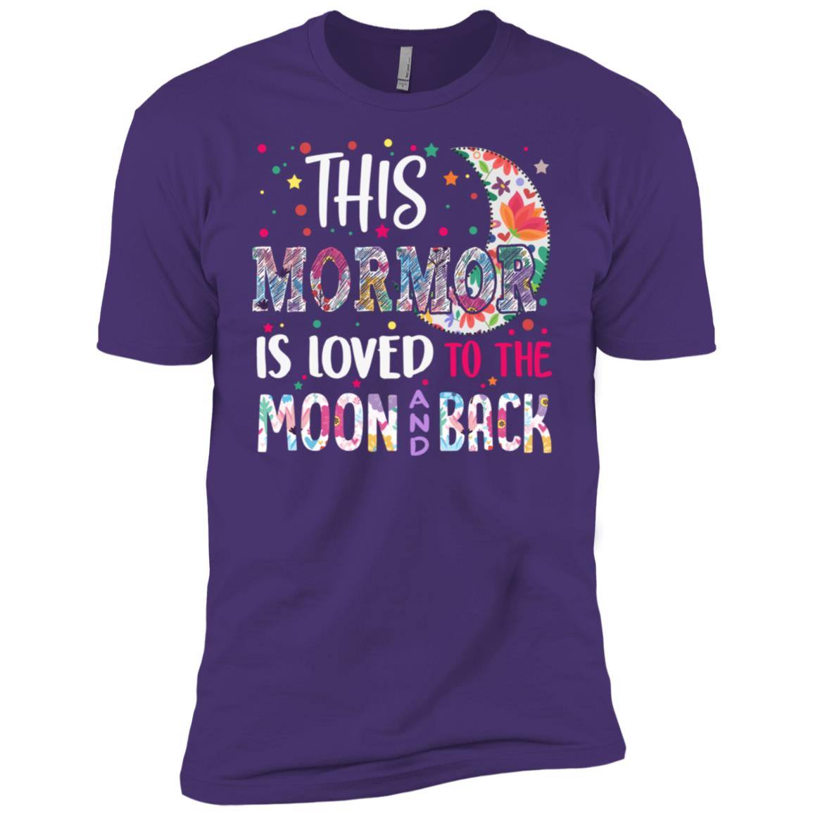 This Mormor is loved to the moon and back Men Short Sleeve T-Shirt