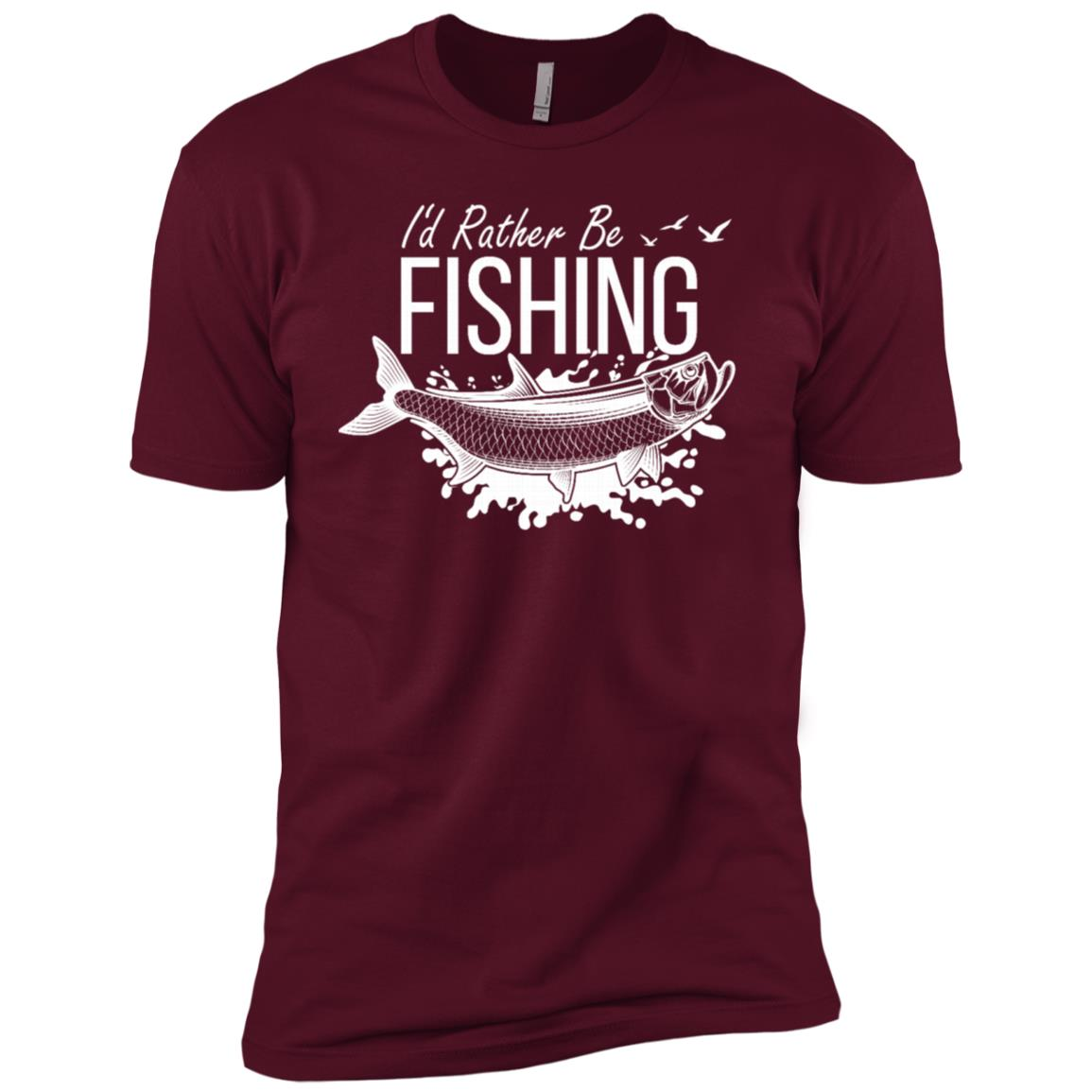 I'd Rather Be Fishing Camping Funny Camping -4 Men Short Sleeve T-Shirt