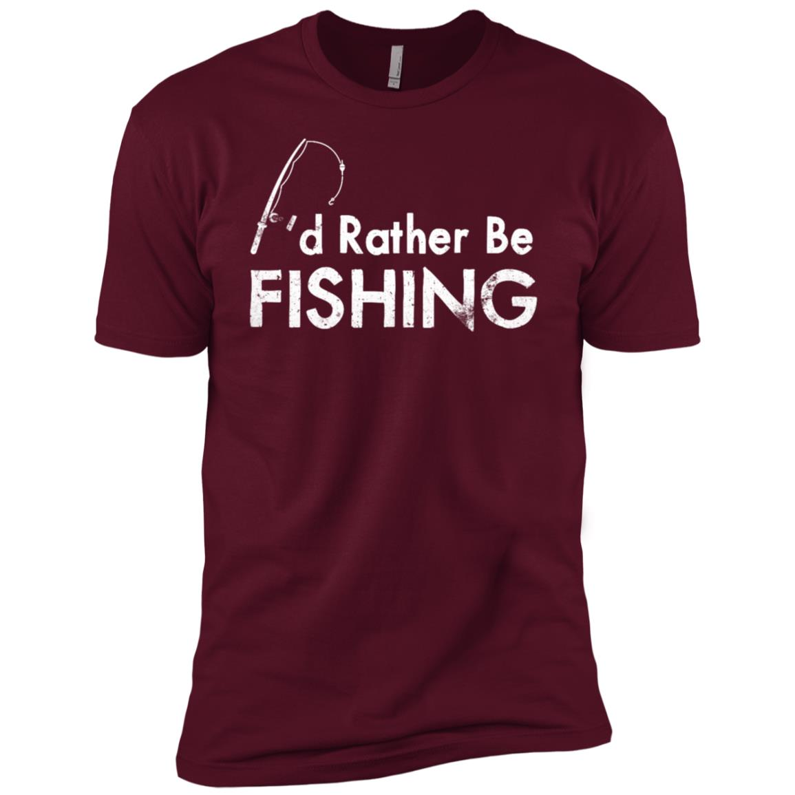 I'd Rather Be Fishing Camping Funny Camping -3 Men Short Sleeve T-Shirt
