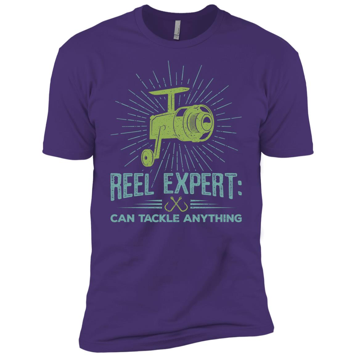 Graphic Fishing Reel Expert Quote Gifts Men Short Sleeve T-Shirt