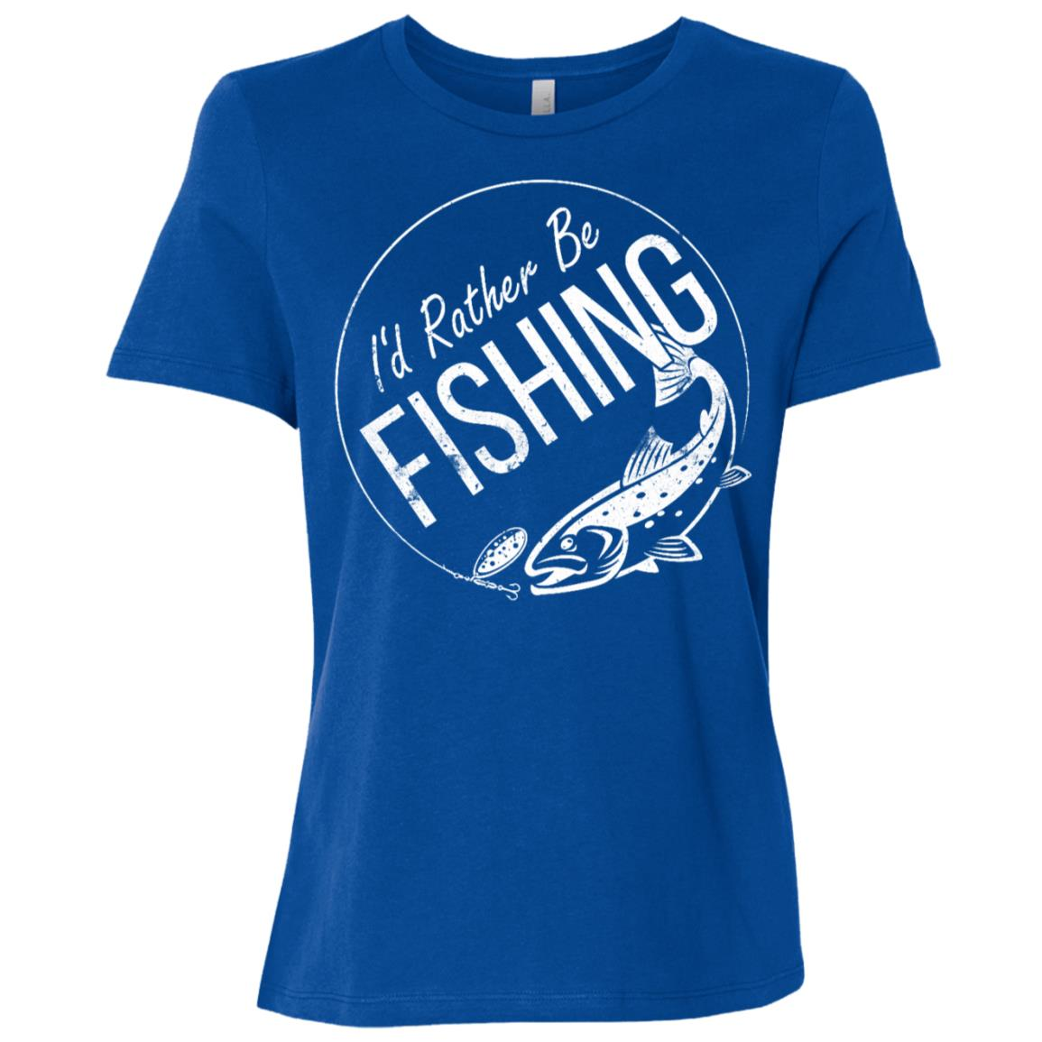 I'd Rather Be Fishing Camping Funny Camping -5 Women Short Sleeve T-Shirt