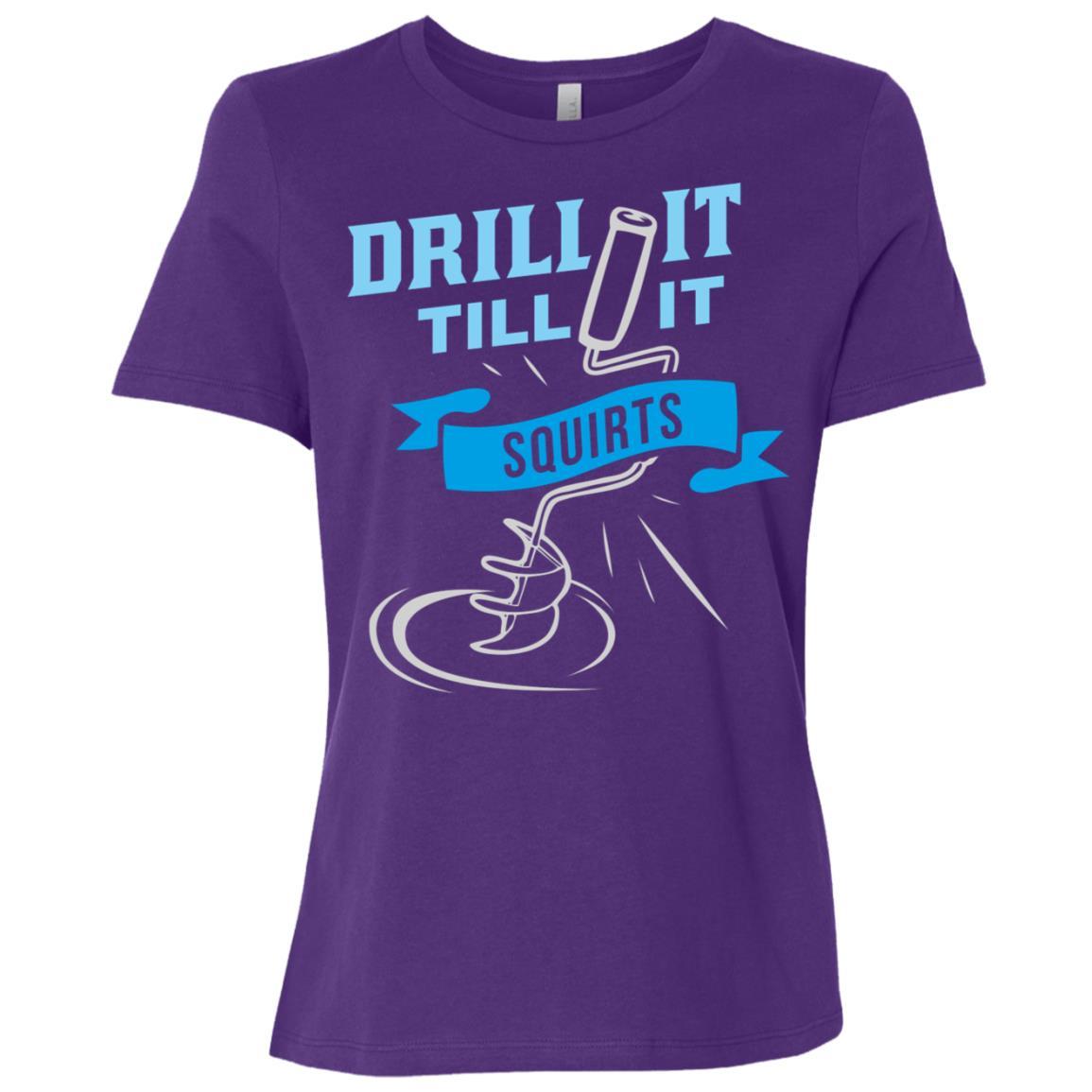 Ice Fishing – Drill It Till It Squirts Women Short Sleeve T-Shirt