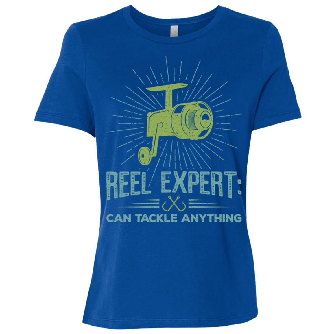 Graphic Fishing Reel Expert Quote Gifts Women Short Sleeve T-Shirt