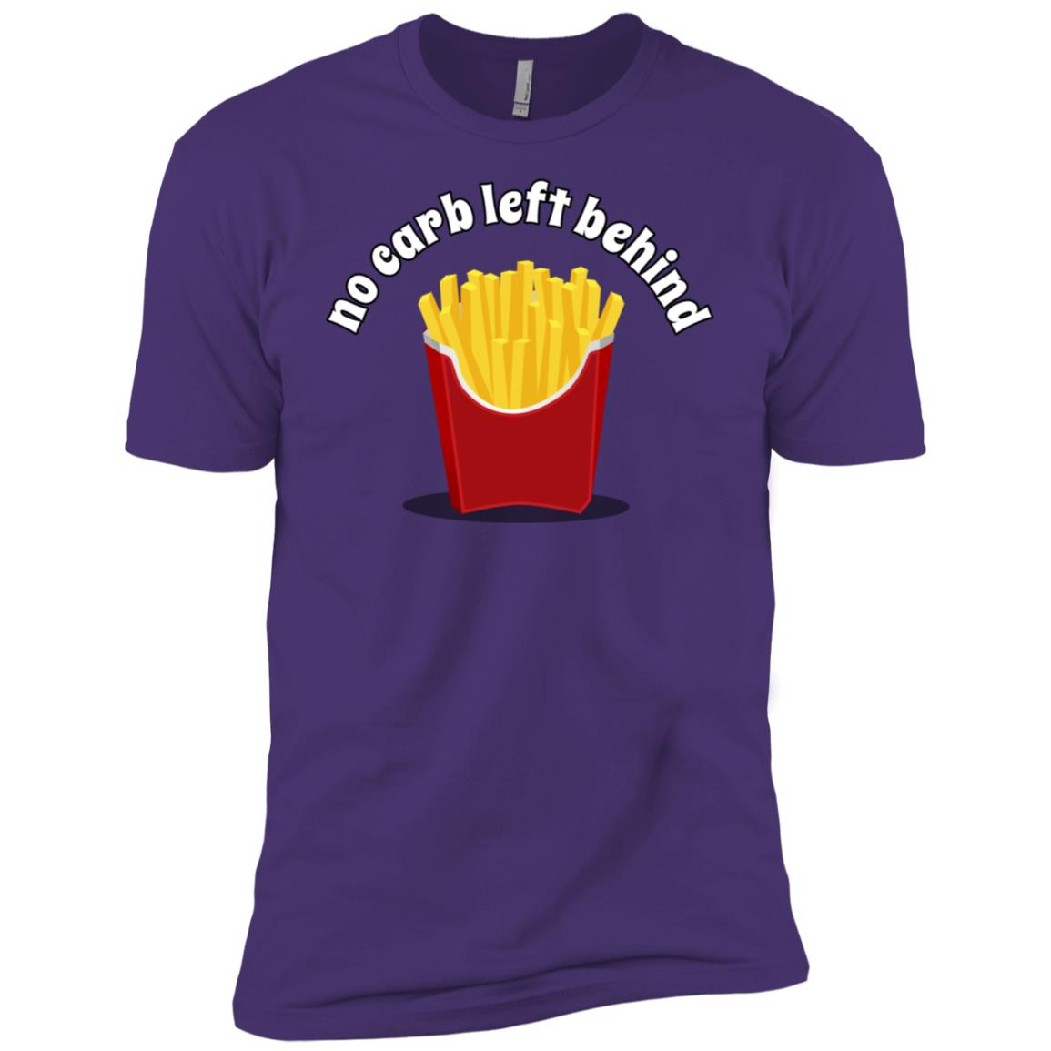 No Carb Left Behind French Fries Men Short Sleeve T-Shirt