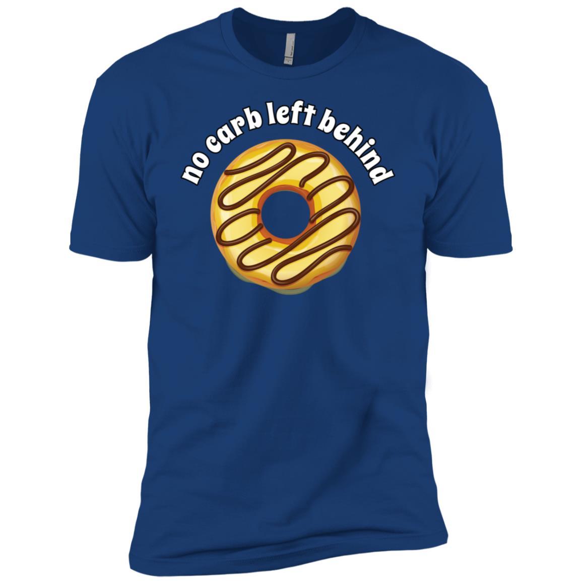 No Carb Left Behind Donut -3 Men Short Sleeve T-Shirt