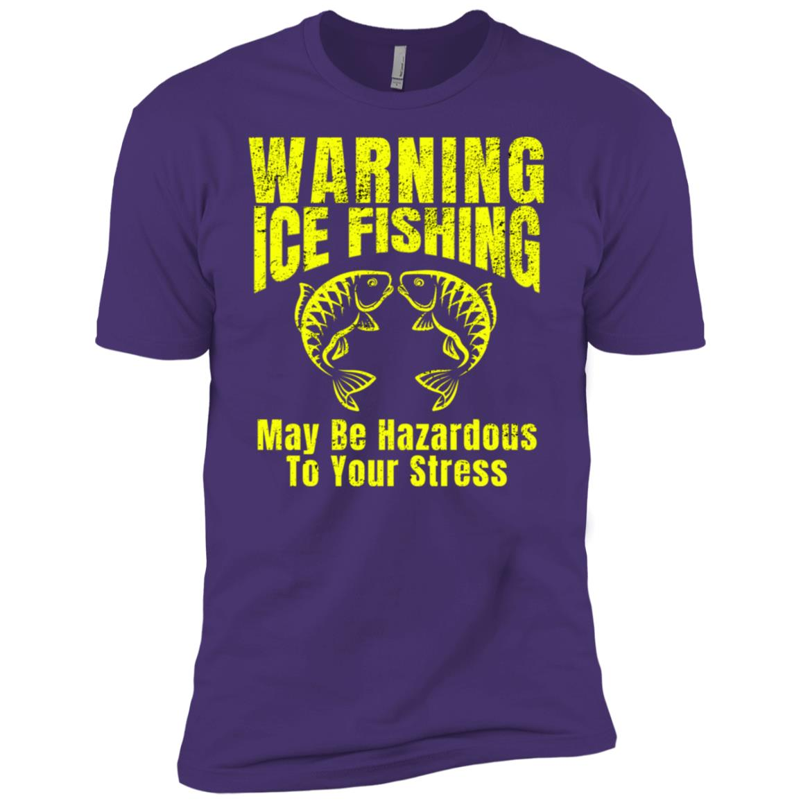 Mens Ice Fishing May Be Hazardous To Your Stress Men Short Sleeve T-Shirt
