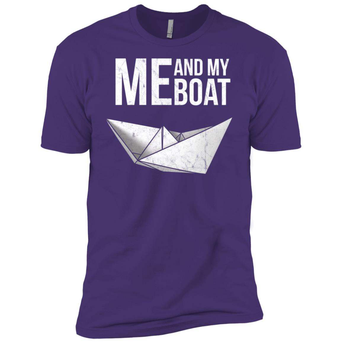 Me And My Boat Paper Ship Mariner Irony Men Short Sleeve T-Shirt