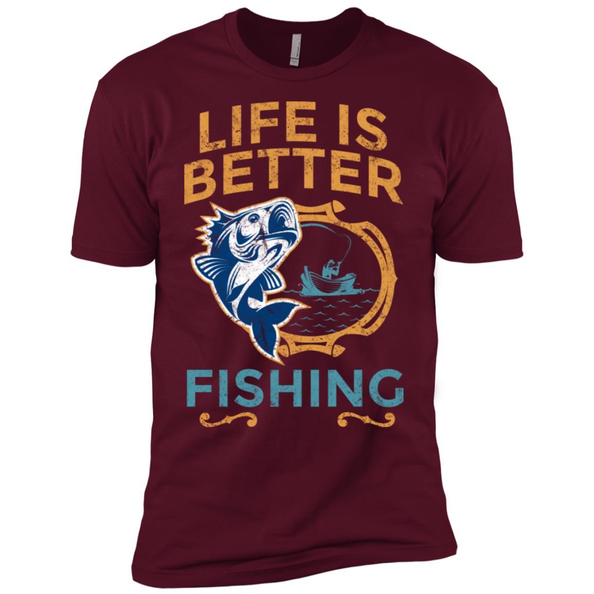 Life Is Better Fishing Large Mouth Bass-1 Men Short Sleeve T-Shirt
